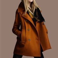 2014 new arrival girls Europe cultivate women's winter autumn long style trench coat double breasted trench coat