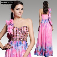 Dorisqueen 2015 latest design free shipping  31196  one shoulder sweetheart long evening dress 2014 new arrival formal dresses