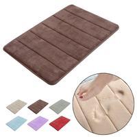 Stylish design Coral Velvet/Memory Foam Non-Slip Back Rug Soft Bathroom Carpet Memory Foam Bath Mat
