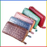 2014 factory outlet famous brand wallet women, designer wrist wallet; purses, crocodile PU leather wallets for lady
