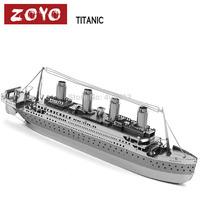 DIY model Build Metal 3D Models Metallic Nano Puzzle DIY 3D Titanic Cruises loose pulley,1 pcs free shipping Laser Cut 3D Model