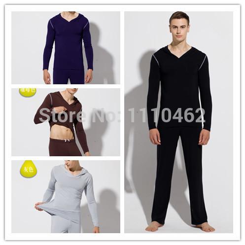 2015 New men pajamas soft comfortable pijama men milk silk pullover mens pajama sets men jogging suit modal yoga sports suit(China (Mainland))