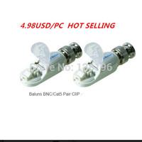 Free shipping 5pcs White Case CCTV Single Channel UTP Passive Video Balun Transceiver Wholesale