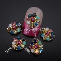 50pcs MIX rhinestones 3d nail art charms scrapbooking DIY nail jewelry MNS773