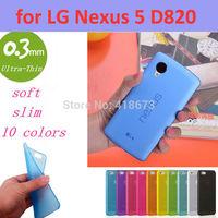 0.3mm Ultra Thin Slim Transparent Luxury Soft TPU Crystal Soft Cover Case for Google LG Nexus 5 D820 D821
