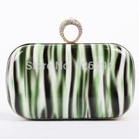 Popular elegant geometric pattern rhinestone ring party fashion ladies purse wallet clutch handbag shoulder bag evening bags