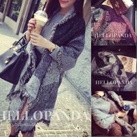HOT Sale 2014 New Fashion Angle Thickening Tassel Cloth Grid Long Scarf Shawl for Women