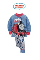 2015 New Arrival Thomas Pajamas 100% Cotton Baby Cartoon Pijamas Kids sleepwear clothes Boys Pyjamas Children's wear 6set/lot