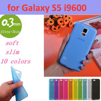 0.3mm Ultra Thin Slim Transparent Luxury Soft TPU Crystal Soft Cover Case for Samsung Galaxy S5 i9600