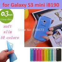 0.3mm Ultra Thin Slim Transparent Luxury Soft TPU Crystal Soft Cover Case for Samsung GALAXY S3 Mini i8190