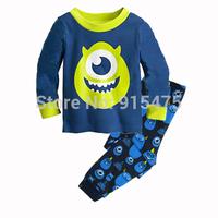 2015 New Arrival Cartoon Pajamas 100% Cotton Baby Pijamas Kids sleepwear clothing Boys Pyjamas Children's wear 6set/lot