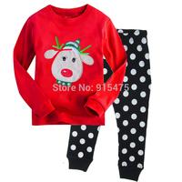 2015 New Arrival Cartoon Dot Pajamas 100% Cotton Baby Pijamas Kids sleepwear clothing Boys Pyjamas Children's wear 6set/lot