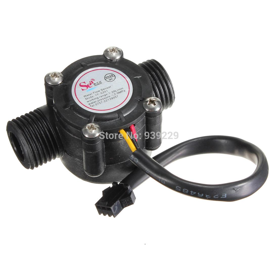 New Water Flow Sensor Switch Meter Flowmeter Hall Flow Counter Sensor Water Control 1 30L min