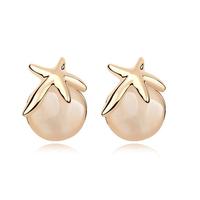 new brand design fashion woman Bestsellers purple starfish earrings 18K gold opal earrings 94196