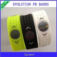 Hot sale!Evolution  PB wristbands power Sports ion silicone bands  silicone bracelets with hogram with box free shipping