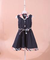 Baby girls cotton sleeveless dress kids summer brand design clothing children's dresses for 2-6years Girl promotion  B1201