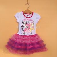 wholesale 6pcs/lot brand kids clothes my little pony girls tutu lace dress kids dress for girls fashion party dress christmas
