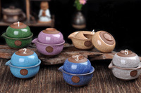 3pcs Ceramic With Cracked Ice Crackle Portable Teaset Cup With 1 Teapot+1 Cup+10g Black Tea Quick and Easy