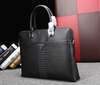 Famous Brand Men's Genuine Leather Handbag Briefcase Laptop Bags For Man Bags Fashion Designers 2Size DHL Free Shipping