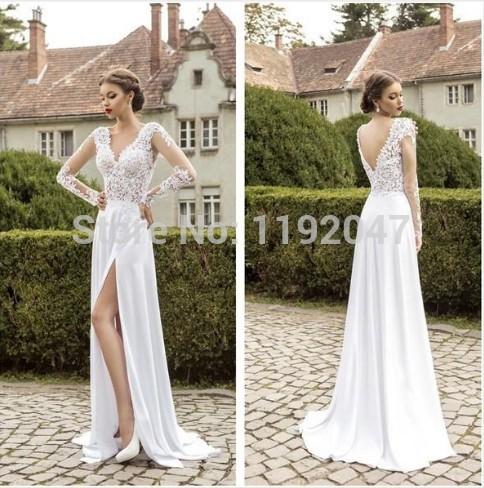 Long Wedding Reception Dresses For Bride 48