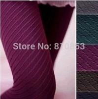 Fashion Autumn Winter Necessary Thick Velvet Tights Women Sexy Pantyhose Stripe Leg Warm Tight  #1234