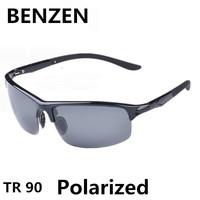 2015 Sunglasses Men Polarized  Oculos De Sol Masculino Sports Goggle Gafas De Sol TR 90 Driving Sun Glasses With Case 9011