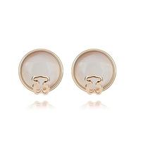 new brand design fashion woman Bestsellers 18K gold earrings Naughty Bear opal earrings 93582