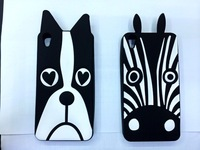 Animal Fashion 3D lovely Cute Cartoon Minions Minnie Zebra Dog Soft Silicone Rubber Back Case For Lenovo S850+ S850T S850  Cases