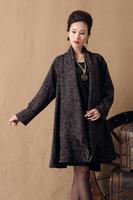 New Arrivals 2015 autumn winter Women Jacket Long Sleeve Coat cardigan Vintage luxury fashion brand clothes Plus Size