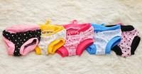 Free shipping! MOQ :10pcs with mixed sizes,  Fashion Female dog pant, Sanitary dog pants, Hygienic dog pant