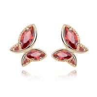 new brand design fashion woman Bestsellers 18K gold earrings stripping cocoon into a butterfly earrings CZ 93078