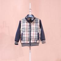 Baby boys girls plaid casual jacket cotton kids uk design fashion clothing coat children coats&jackets promotion B1201