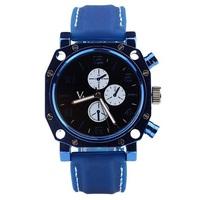 HOT New Fashion Sports Waterproof Watch Luxury Men Watch Leather Quartz Watch Calendar display Cool students watch Free shipping