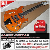 Jazz Style Hollow Body Customized Electric Guitar Top Flame Maple
