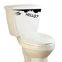 2014 new On sale Free shipping hello wall fridge washing toilet sticker peeper washing machine sticker creative alphabetical