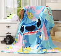 lilo&stitch blue coral fleece blankets bed rug 150x200cm soft new Xmas birthday gifts free shipping