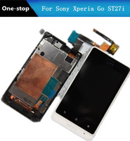 For Sony Xperia Go ST27i Full LCD Display+Touch Screen Digitizer Frame Phone Repair Part Replacement Free Shipping !!! (White)