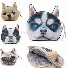 New Lovely Dog Face Zipper Case Coin Purse Wallet Makeup Buggy Bag Pouch