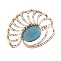 2015 New Fashion Personalized Irregular Rhinestone Oval Pearl Brooches,Free shipping
