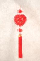 heart-shaped pendant 19 roses handmade Chinese knot pendant 10pcs Chinese knot