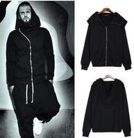 exclusive custom new autumn and winter oblique zipper sweater coat solid color hoodie sorcerer couple models