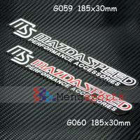 20pcs Big Red Black MS SPEED Aluminum Alloy Badges Emblem185x30mm