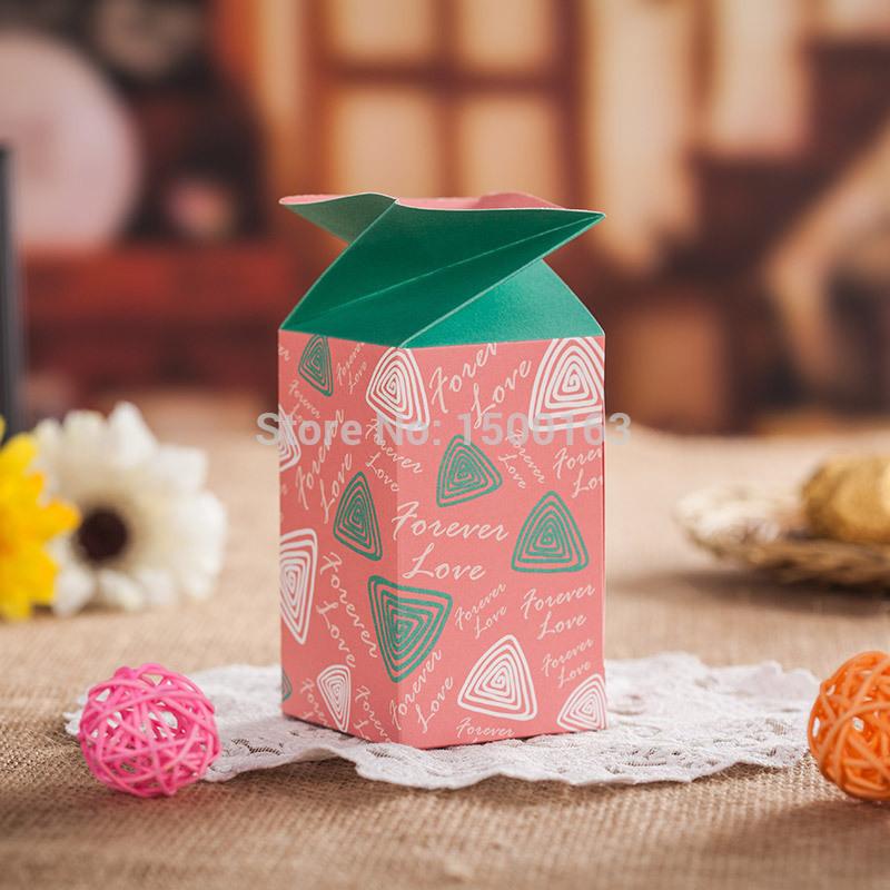 Atacado 50 pçs/lote bonito Lovely house forma caixa casamento doce chá de bebê de doces do favor do papel com caixa partido fita Z133(China (Mainland))