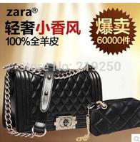 2014 100% women fashion sheepskin handbag / diagonal package, free shipping, send packet