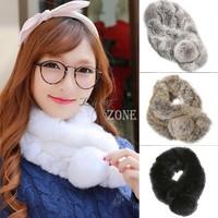63(L)cm x 13(W)cm  New Winter Women's Warm Scarf Fashion Faux Fur All Match Shawl Casual 4 Colors Thickening b9 CB033510