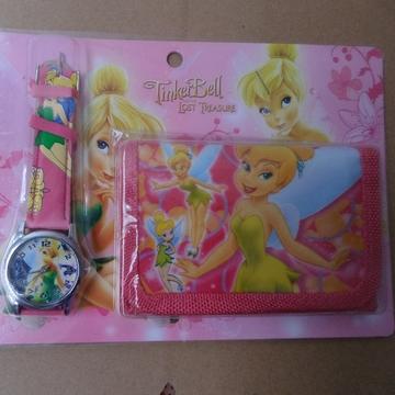New Wrist Watchc1pcs Tinkerbell Children's CARTOON WATCH Gift wallet Drop shipping(China (Mainland))
