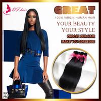 New Peruvian Virgin Hair Silky Straight 1pc/lot Cheap Woman Hair Weaves Natural Black 60g/pc 100% Queen Weave Beauty
