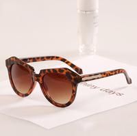 2014 New fashion geometry arrow Ms. glasses frame sunglasses Leopard and Black color men sunglasses N152