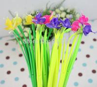 100PCS RANDOM Grass Soft Silicone Shape Gel pen Phalaenopsis Flower Signature pen