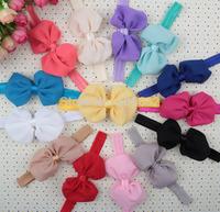 Free shipping Princess Chiffon Bow headbands Hairbands Children's hair accessories Kids bow headbands Hairbands